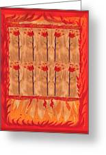 Ten Of Wands Greeting Card