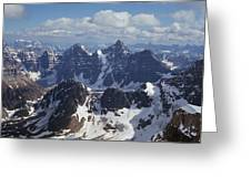 T-703502-ten Peaks From Summit Of Mt. Lefroy Greeting Card