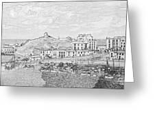 Tenby Harbor Panorama Greeting Card