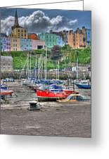 Tenby Harbour In Summer 4 Greeting Card