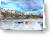 Tenby Harbour Wales Greeting Card