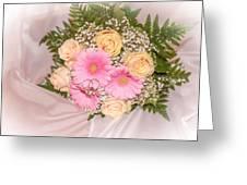 Tender Bridal Bouquet Witn Wedding Rings Greeting Card