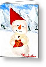 Tender Snowman Greeting Card