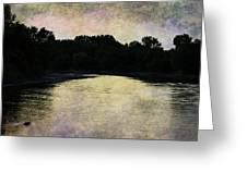 Tender Sundown Greeting Card
