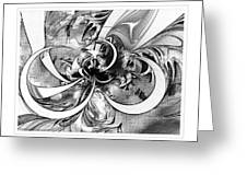 Tendrils In Pencil 03 Greeting Card