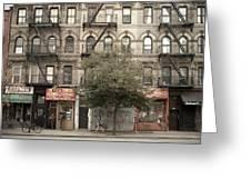 Tenement Building Greeting Card