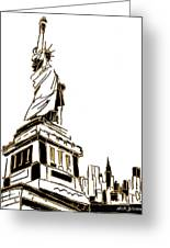 Tenement Liberty Greeting Card