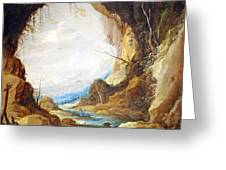 Teniers' Vista From A Grotto Greeting Card