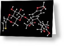 Teniposide Drug Molecule Greeting Card