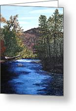 Tennessee A River Through The Woods Greeting Card