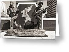 Tennessee Korean War Memorial Greeting Card by Dan Sproul