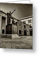 Tennessee War Memorial Black And White Greeting Card