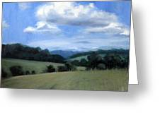 Tennessee's Rolling Hills And Clouds Greeting Card