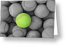 Tennis Balls Background Texture Greeting Card by Phaitoon Sutunyawatcahi