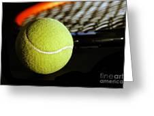 Tennis Equipment Greeting Card