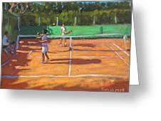 Tennis Practice Greeting Card