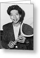 Tennis Star Althea Gibson Greeting Card