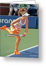 Tennis Star Laura Robson Greeting Card by Harold Bonacquist