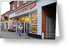 Tenterden Woolworths Store Greeting Card