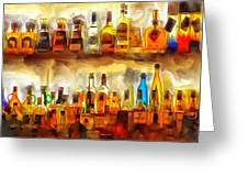 Tequila Bar At Aquila Restayrant Greeting Card