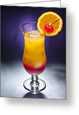 Tequila Sunrise Cocktail Greeting Card