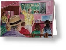 Tequilla Tasting At Puerto Vallarta Mexico Greeting Card