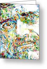 Terence Mckenna Watercolor Portrait.1 Greeting Card