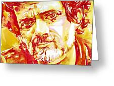 Terence Mckenna Watercolor Portrait.2 Greeting Card