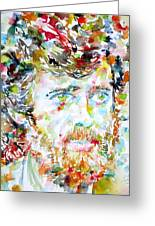 Terence Mckenna - Watercolor Portrait.3 Greeting Card