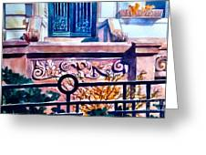 Terra Cotta And Iron Fence Greeting Card