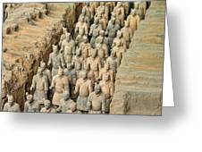Terra Cotta Warriors Greeting Card