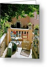 Terrace At A Guest House At Waterloo Greeting Card