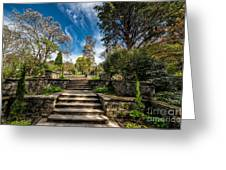 Terrace Garden Greeting Card
