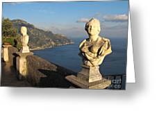 Terrace Of Infinity In Ravello On Amalfi Coast Greeting Card by Kiril Stanchev