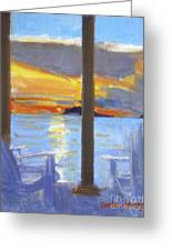Terrace Sunset Greeting Card