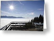 Terrace With Panoramic View Greeting Card
