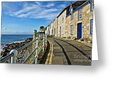 Terraced Cottages At Mousehole Greeting Card