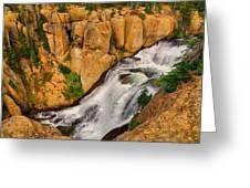 Terraced Falls Greeting Card