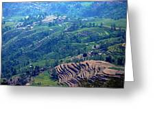 Terraced Slopes Greeting Card