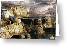 Terraces, Mammoth Hot Springs Greeting Card