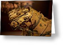 Terracotta Horses Greeting Card