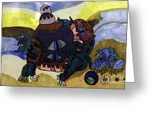 Terrestrial Turtle Greeting Card