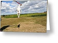 Terrier Ball Ballet Greeting Card