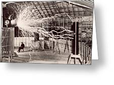 Tesla Coil Experiment Greeting Card
