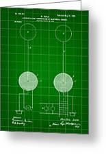 Tesla Electric Transmission Patent 1900 - Green Greeting Card
