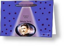 Tesla The Gorgeous Genius Greeting Card