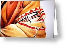 Teton Dacota Indian Woman Detail Greeting Card