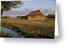 Teton Morning Magic Greeting Card