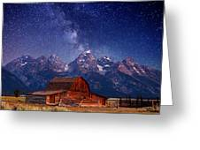 Teton Nights Greeting Card by Darren  White