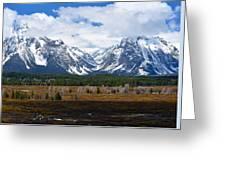 Teton Panorama I Right Panel Greeting Card